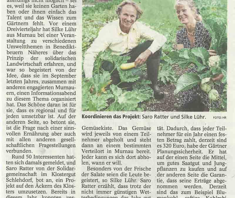 Unsere SoLaWi im Münchner Merkur