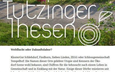 Modellprojekt Südbayern: Das Klostergut Schlehdorf bei der Ev. Akademie Tutzing