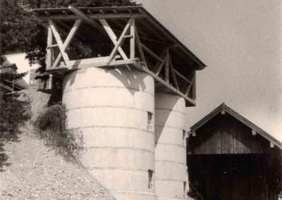 Bau der Silos 1971
