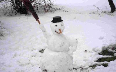 Mit Schnee(mann) ins Neue Jahr