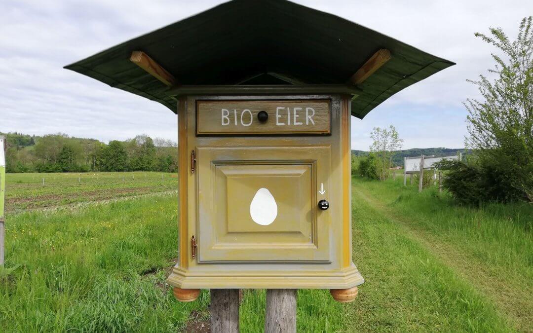 Bio-Eier-Verkaufskastl